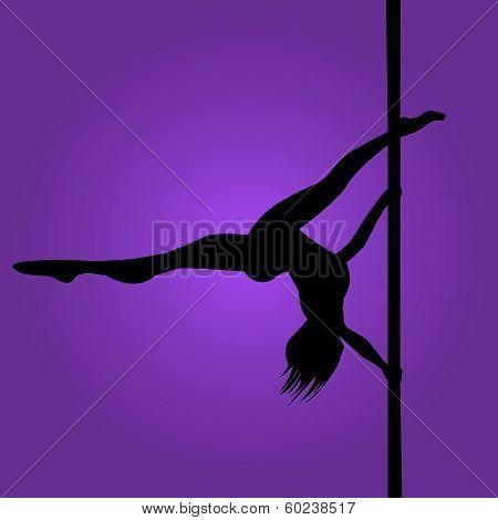 Silhouette-Pole Dancer