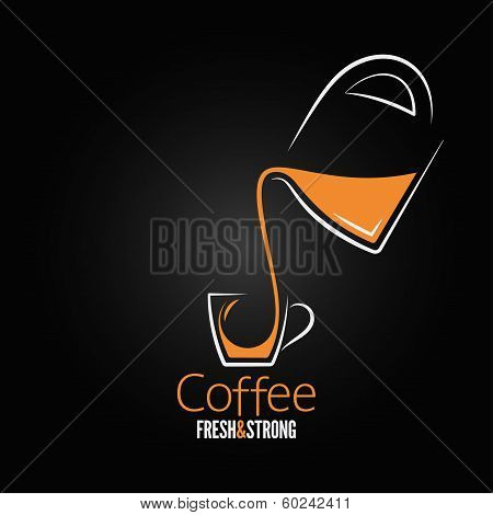 coffee cup glass pot design background