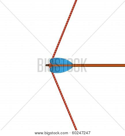 Bow arrow and red bowstring