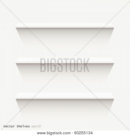 Floating Shelves, Vector Illustration