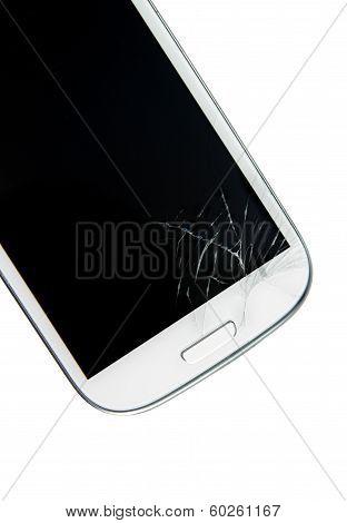 Broken screen smart phone