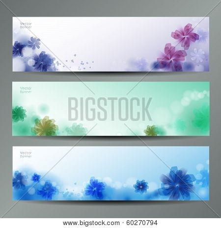 Abstract Flower Vector Background / Brochure Template / Banner. eps 10 poster