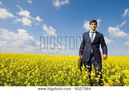 Man In Meadow