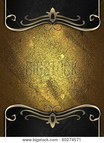 Gold Rich Texture With Black Edges And Gold Trim