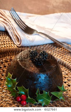 Xmas Pudding With Fork