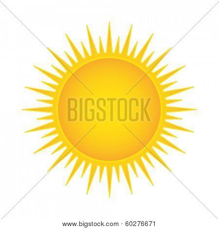Sun vector illustration isolated
