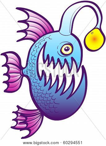 Angler fish smiling mischievously