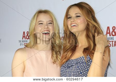 LOS ANGELES - FEB 22: Taylor Spreitler, Debby Ryan at the Abercrombie & Fitch 'The Making of a Star' Spring Campaign Party on February 22, 2014 in Los Angeles, CA