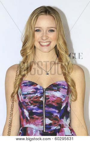 LOS ANGELES - FEB 22: Greer Grammer at the Abercrombie & Fitch 'The Making of a Star' Spring Campaign Party on February 22, 2014 in Los Angeles, CA