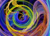 Abstract fun  colorful burst spiral pattern design image poster