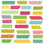 Set of Ribbons and Stickers - for design and scrapbook - in vector poster