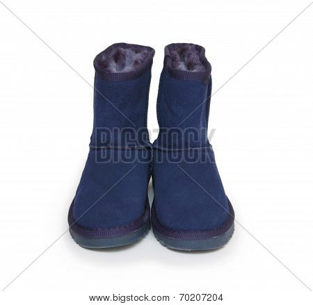 Winter Boots Isolated On White Background