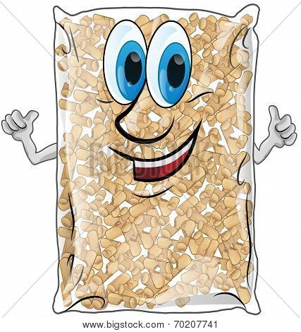 Pellet Bag Isolated