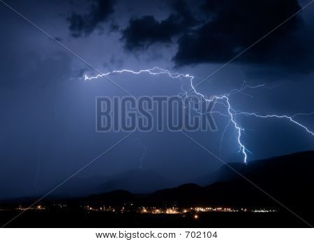 Mountain Lightning Strike