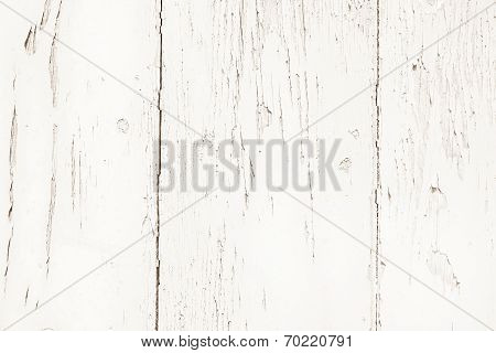 Shabby Chic Style: Old Wood Background In White Color - Patterned And Rustic.