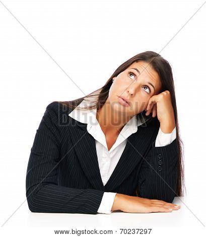Businesswoman Bored