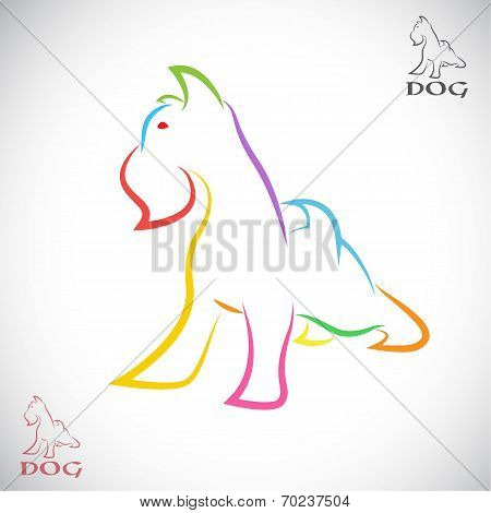 Vector Image Of An Dog (irish Terrier)