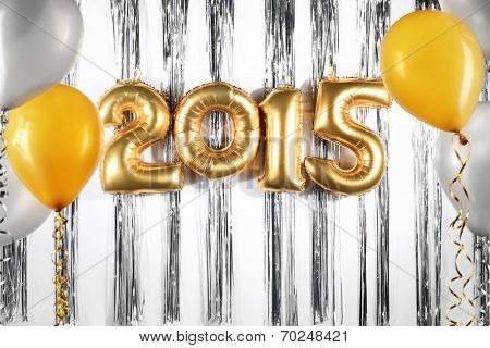 New Year 2015 decoration with balloon