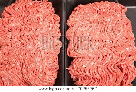 Fresh Ground Beef In Black Styrene Tray