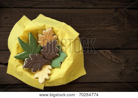 Autumn Cookies In A Bowl