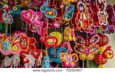 Colorful lanterns at Chinatown, Ho Chi Minh city, Vietnam