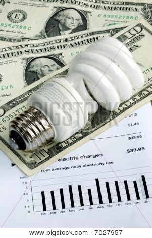 Save money by using energy savings light bulbs