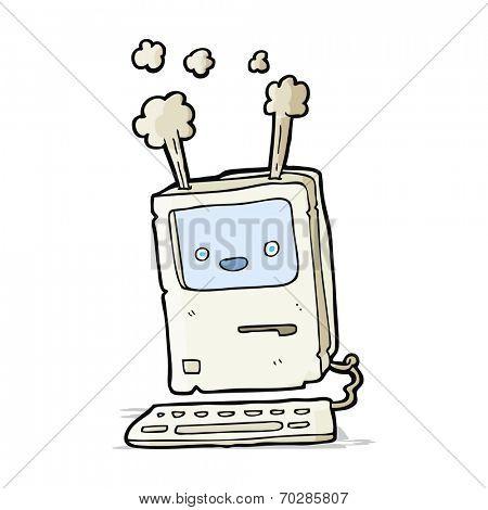 cartoon computer malfunction