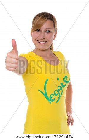 Thumbs Up For Veggie