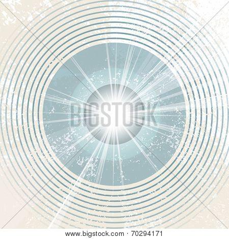 Retro starburst - abstract radio waves