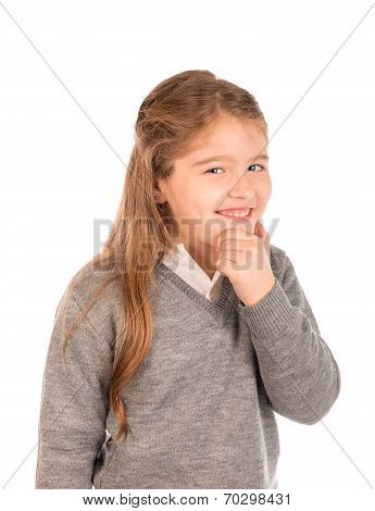 Mischievous Little Girl