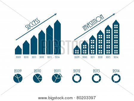 Modern Business Infographics Elements, Vector Illustration, Eps10