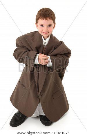 Boy In Big Suit