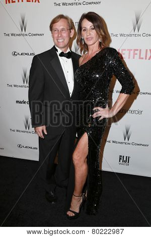 LOS ANGELES - JAN 11:  Bart Conner, Nadia Comaneci at the The Weinstein Company / Netflix Golden Globes After Party at a Beverly Hilton Adjacent on January 11, 2015 in Beverly Hills, CA