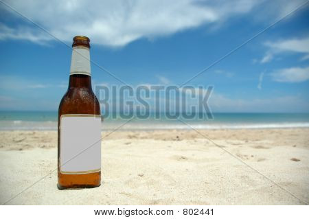 Beer and beach (blank)