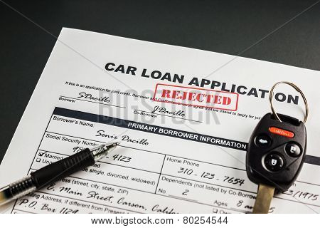 Car Loan Application Rejected 005