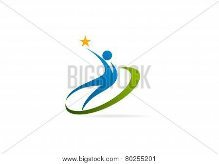 Star success healthy body logo design