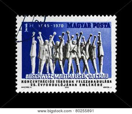 Hungary - Circa 1970: Cancelled Stamp Printed In Hungary, Shows Monument To Hungarian Martyrs, Circa