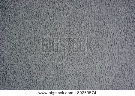 Silver Artificial Leather Background Texture Close-up