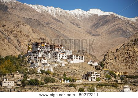Likir Monastery Buddhist Temple in Ladakh ,India - September 2014