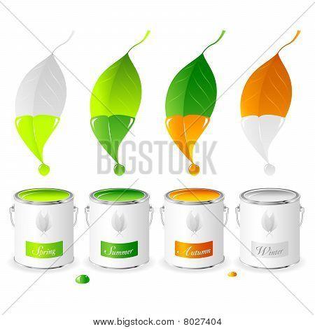 Four Seasons - Set 01 - Paint Tins