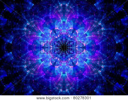 Splitted Multicolored Kaleidoscope Fractal