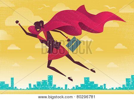 Businesswoman Is A Superhero.