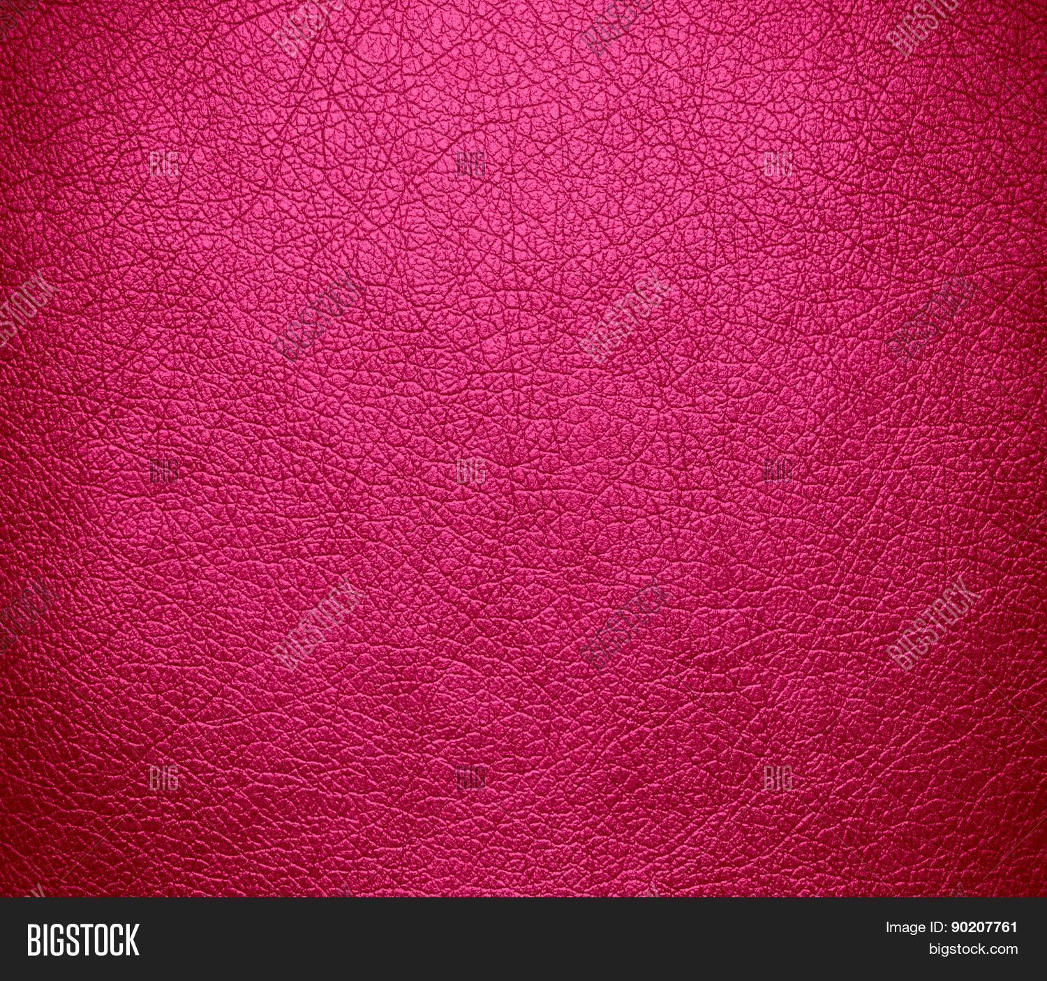 Cerise Pink Color Leather Texture Background