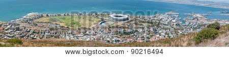 Panorama Of Sea Point, Green Point, Waterfront And Harbor