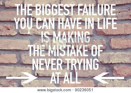 Inspirational motivational quote phrase background design
