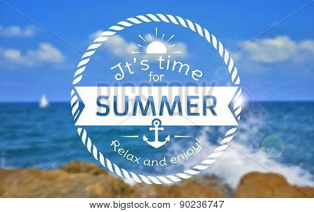 Summer Card. Vector Blurred Background.