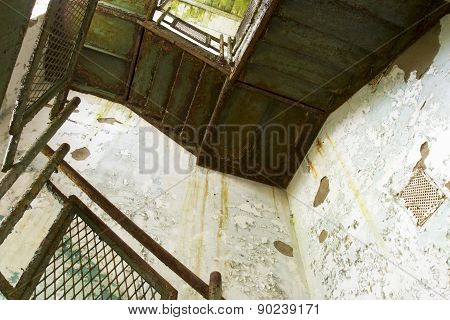 Staircase In Decaying Building