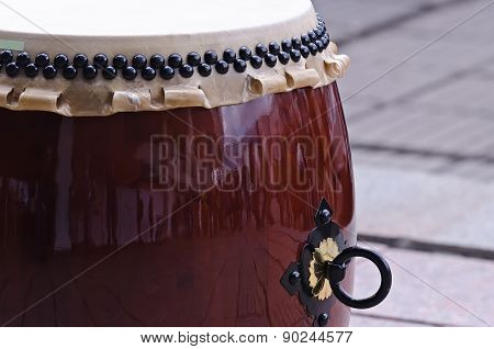 Traditional japanese percussion instrument Taiko or Wadaiko drum