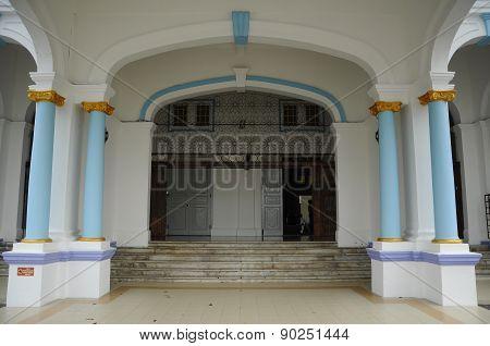 Entrance of The Sultan Ibrahim Jamek Mosque at Muar, Johor