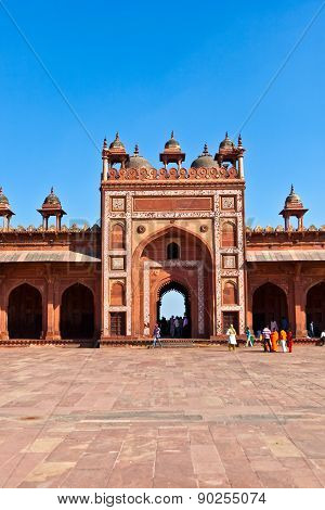 The Jama Masjid In Fatehpur Sikri Is A Mosque In Agra, Completed In 1571